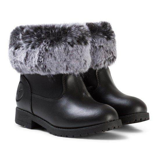Michael Kors Black Faux Fur Lined Zia Dhalia Dori Boots Black