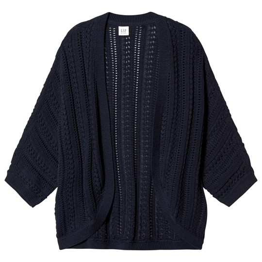 GAP Stitch Cardigan Cocoon Blue Galaxy BLUE GALAXY