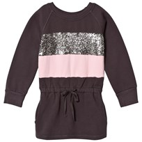 How To Kiss A Frog Gunnel Dress  Dkgrey/Pink/Stripe Dkgrey/Pink/Stripe
