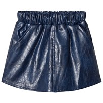 How To Kiss A Frog Peach Skirt Faux Leather Blue Leather Blue