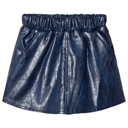 How To Kiss A Frog Peach Skirt Leather Blue Leather Blue
