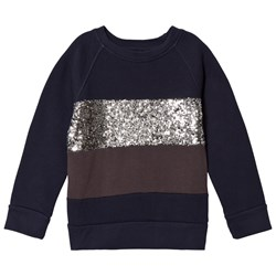 How To Kiss A Frog Siv Jumper Navy/Silver/Dk Grey