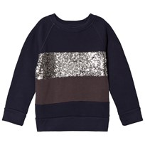 How To Kiss A Frog Siv Jumper Navy/Silver/Dk Grey Navy/Silver/Dk Grey