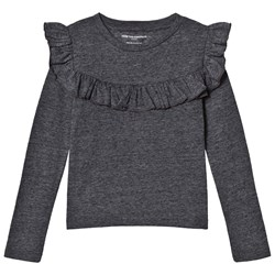 How To Kiss A Frog Frill Jumper  Dk Grey