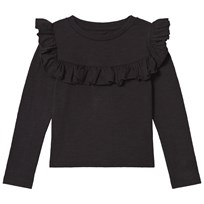 How To Kiss A Frog Frill Jumper  Black Black