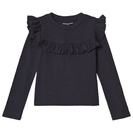 How To Kiss A Frog Frill Jumper  Navy Marinblå