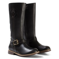 Tommy Hilfiger Black Aubrey Leather Tall Boots 990