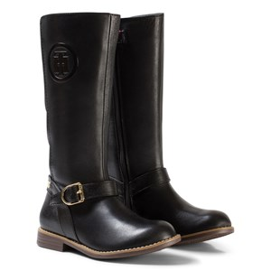 52be4aad229 Tommy Hilfiger - Black Aubrey Leather Tall Boots - Babyshop.com