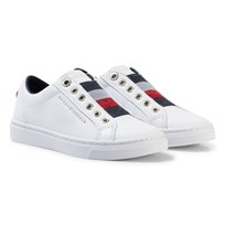 Tommy Hilfiger White, Navy and Red Star Glitter Slip On Trainers 100
