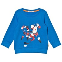 Billybandit Blue Ice Hockey Print Sweater 81K