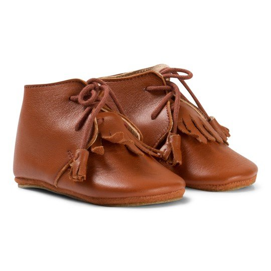Easy Peasy Brown Fringe MexiP Shoes Anti Slip Sole 069