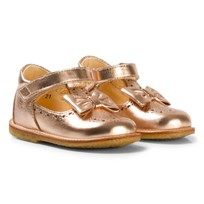 Angulus Rose Gold Bow Detail Mary Janes 1537