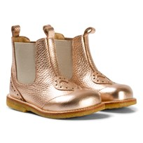 Angulus Rose Gold Heart Brogue Chelsea Boots 1537-010