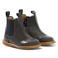 Angulus Chelsea Booties with Stitched Detail Dark Grey Harmaa