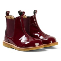 Angulus Burgundy Patent Brogue Chelsea Boots 2301