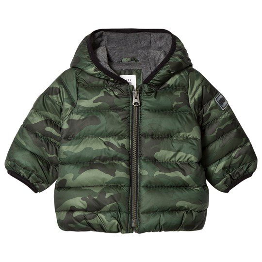 GAP ColdControl Lite Bear Puffer Jacket Green Camo GREEN CAMO
