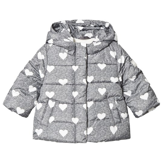 Gap EcoPuffer Jacket Grey Heather/White GREY HEATHER/WHITE