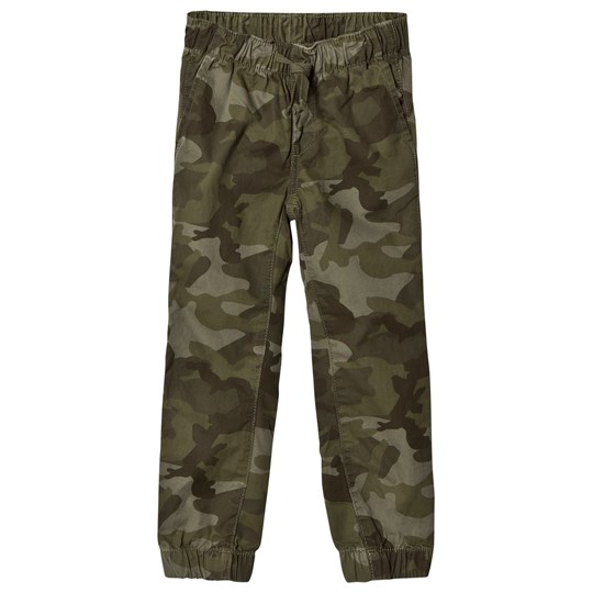 Gap Canvas Joggers Green Camo GREEN CAMO
