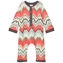 The Little Tailor Multi ZigZag Baby Boys Comfy Playsuit Multi