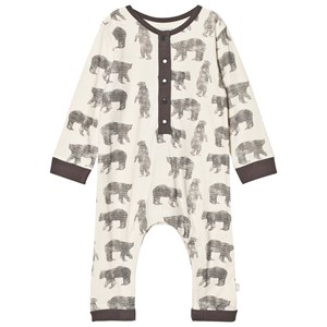 Image of The Little Tailor Cream Bear Baby One-Piece 6 months (2743706351)