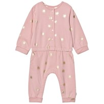 The Little Tailor Pink Baby Girls Comfy Playsuit Pale Pink