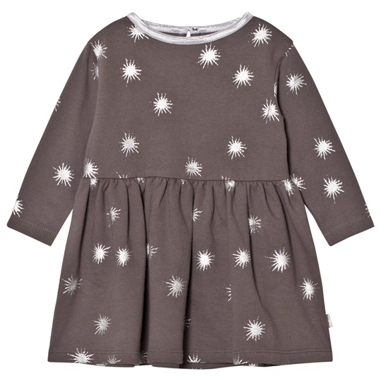 The Little Tailor Dark Grey Baby Jersey Dress Charcoal Starbust