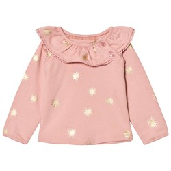 The Little Tailor Pink Baby Slim Collar Sweater