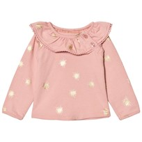 The Little Tailor Pink Baby Girls Slim Collar Sweat Pale Pink