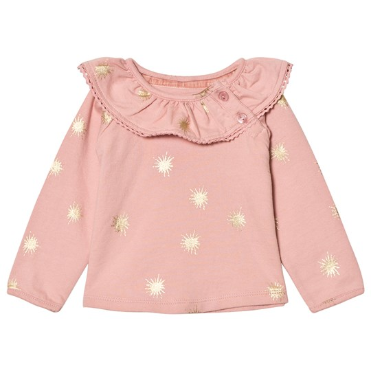 The Little Tailor Pink Baby Slim Collar Sweater Pale Pink