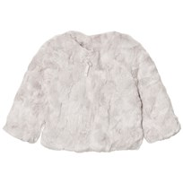 The Little Tailor Grey Girls Faux Fur Jacket Black