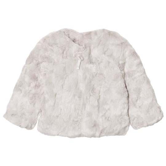 The Little Tailor Grey Faux Fur Jacket Black