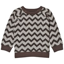 The Little Tailor Grey ZigZag Baby Boys Sweat Top Black