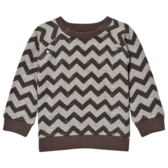 The Little Tailor Grey ZigZag Baby Sweater Black