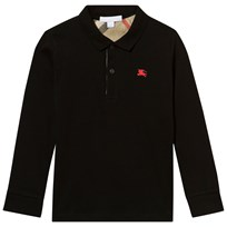Burberry Black Long Sleeve Jersey Polo Black