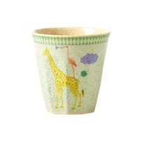 Rice Kids Bamboo Small Melamine Cup w. Boys Animal Print Boys Animal Print