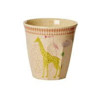 RICE A/S Kids Bamboo Small Melamine Cup w. Girls Animal Print Girls Animal Print