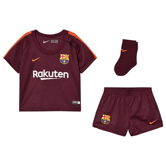 Barcelona FC 2017/18 FC Infant Barcelona Third Kit NIGHT MAROON/HYPER CRIMSON