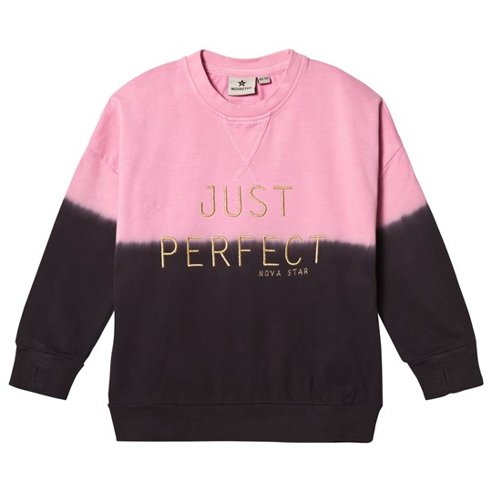 Nova Star Long Sweater Pink Perfect Darkgrey/pink