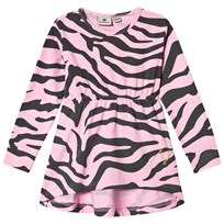 Nova Star Dress Zebra Pink Darkgrey/pink