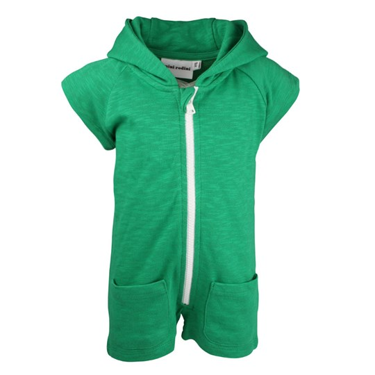 Mini Rodini French Terry S/L Onesie Green Green