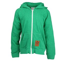 Mini Rodini French Terry Zip Hoodie Green