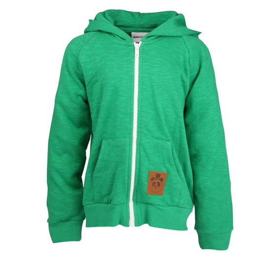 Mini Rodini French Terry Zip Hoodie Green Green