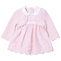 Mayoral Pink Embroidered Dress with Attached Cardigan 53