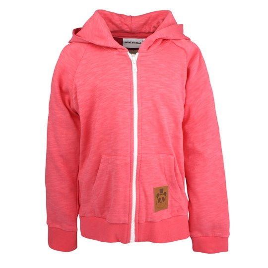 Mini Rodini French Terry Zip Hoodie Cerise Pink