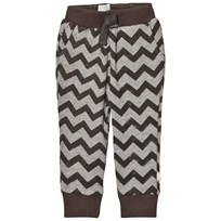 The Little Tailor Grey ZigZag Baby Boys Comfy Pant Black