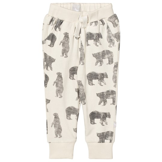 The Little Tailor Cream Bear Baby Sweatpants Cream