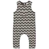 The Little Tailor Grey Baby Boys Slouch Dungaree Black