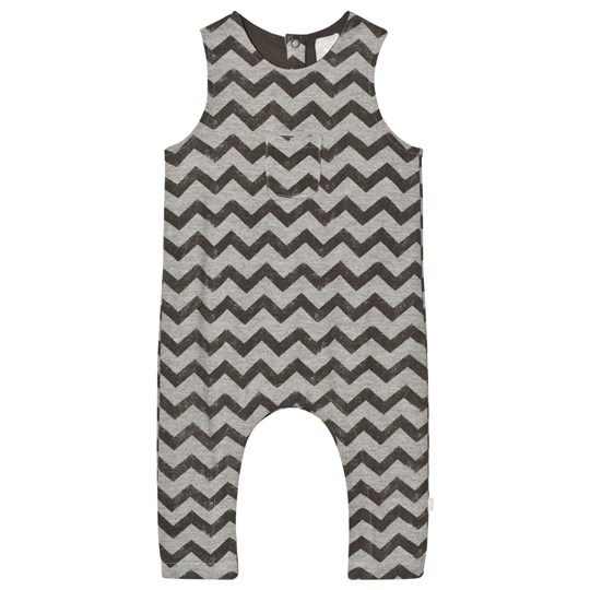 The Little Tailor Grey Baby Slouch Dungarees Black
