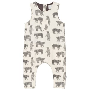 Image of The Little Tailor Cream Bear Baby Slouch Dungarees 12 months (2744497179)