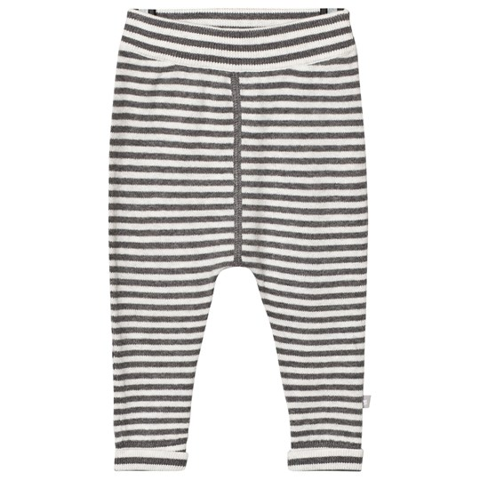 The Little Tailor Grey Cashmere Mix Knitted Pants Grey/Charcoal Strip